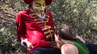 Diana sucking Anonymous' cock