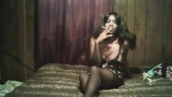 having a sexy smoke