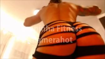 Amazing Big brazilian ass wiggling on ripped shorts