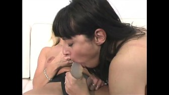 Carol Cox and Seska Enjoy Hard Lesbian Strap-On Play