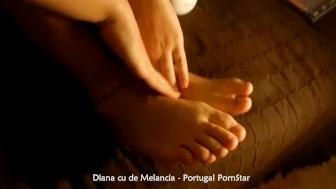 Diana cu de melancia pezinhos feet massage