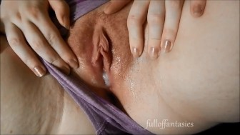 Pushing Out a Creampie