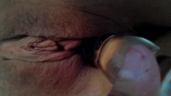 Close up toy play squirt