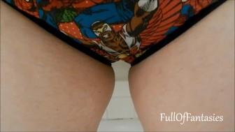 Pissing in Marvel Avengers Panties