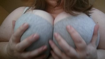 A quick bra tease with my 46G's