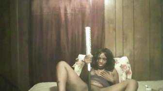 black girl fucking a soft ball bat