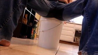 Me pissing my pants, jean wetting- andrea sky