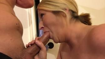 Wife sucks cock!
