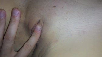 My wife's shaved pussy