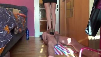 High heels trample