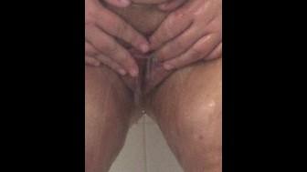 BBW Shower Pussy Play