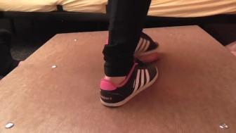 Sneakers and balerina hard cock crush