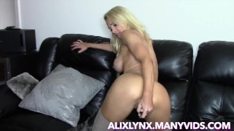 Alix Lynx Dildo Play and JOI