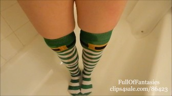 Pissing in my St Patrick's Day Socks!