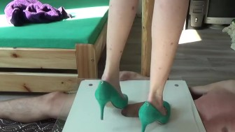 Full Weight Cock Crushing Under Plexiglass And High Heels - compilation