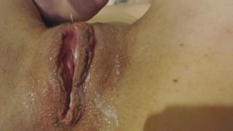 Tight creamy pussy hidding from parents