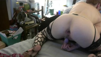 stella swallowing cock and vibing her clit to orgasm