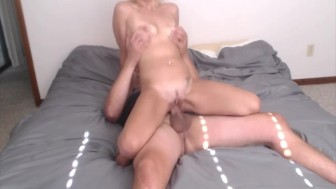 Tight Horny Blonde Chick Rides For A Creampie