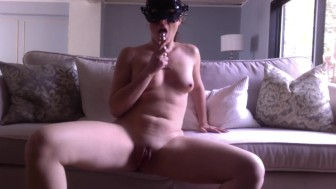 Masturbation on sofa