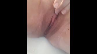 Rubbing wet pussy