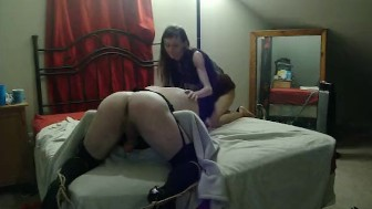 Punishing my Sissy Bitch in Chastity