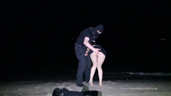 LNu00b4s#10 Little slutty wife fucked hard - standing on all 4 @ Danish beach