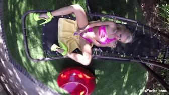 Naughty Outdoor Voyeur Fun with Alix Lynx