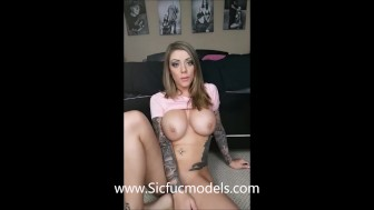 Karma Rx is Dared to Double Anal and fisting! Huge Cocks!