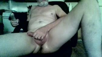 oldman dildo play