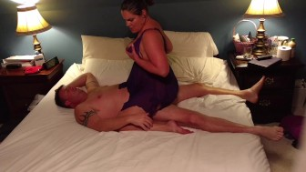 Milf Becky Tailor fucks and rides dick in purple nightie...