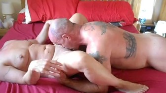 Milf gets rough fuck from big guy and swallows his cum.