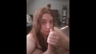 Girlfriend Smoking Sloppy Blowjob