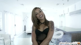 Sexy skin diamond real life behind the scenes shower of jamesdeen.com movie
