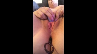 First Time Trying Anal Beads - Close Up Orgasm Contractions