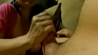 Spontaneous Couch Blowjob. Breakout the Go Pro's!