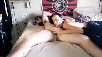 MORNING HEAD WITH COWGIRL CREAMPIE