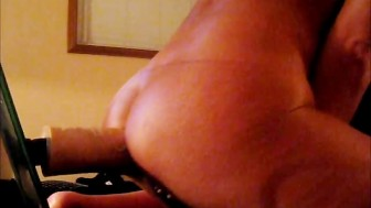 HOT MILF EXTREME DILDO DOGGY STYLE ORGASM WITH HUSBAND CUM SHOT