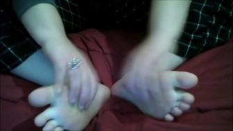 Cute Girl Tickles Her Feet