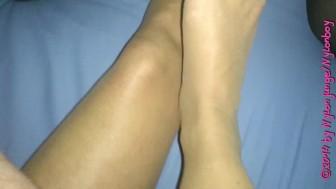 Known: nylon feet on cock