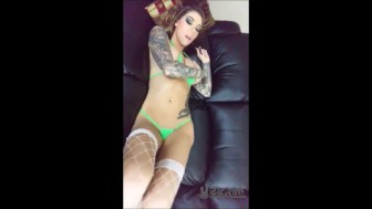 2 Videos of Karma Rx Squirting Show with BIG COCK Nerd Porn