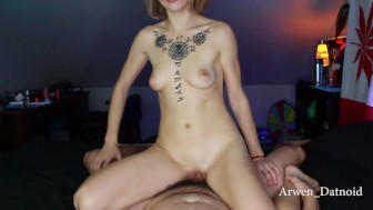 Arwen Sucks and Rides Cock