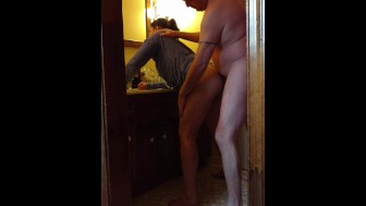 Sexy hidden cam bathroom fuck....