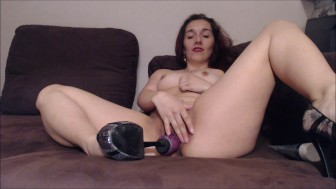SexyMargaux masturbating with alien's cock!