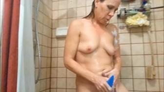 HotWifeDd-Shower Masturbation And Orgasm With My Favorite Vibrator