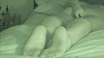 NIGHT VISION CAPTURES WIFE'S MULTIPLE ORGASMS WHILE LISTENING TO PORN-HOT