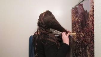 Hair Journal: Combing Long Curly Strawberry Blonde Hair - Week 2 (ASMR)