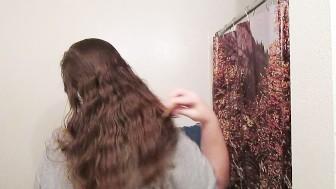 Hair Journal: Combing Long Curly Strawberry Blonde Hair - Week 10 (ASMR)