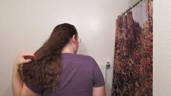 Hair Journal: Combing Long Curly Strawberry Blonde Hair - Week 12 (ASMR)