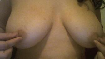 Busty Asian Rubbing Large, Natural Tits