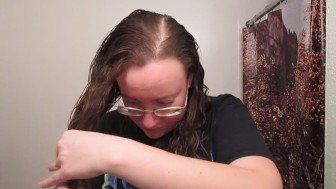 Trimming Long Curly Hair 022620017